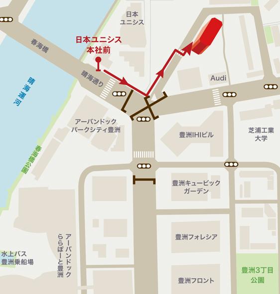 [地図]バスでお越しの場合